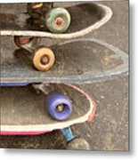 Used Skateboards Metal Print