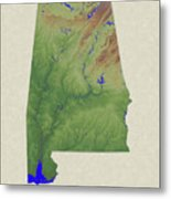 Usgs Map Of Alabama Metal Print