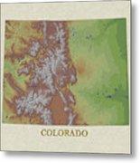 Usgs Map Of Colorado Metal Print