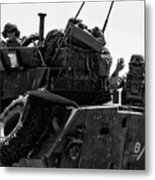 Usmc On The Move In A Lav-25 Metal Print