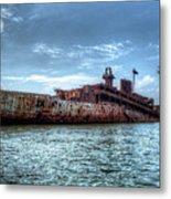Usns American Mariner - Target Ship, Chesapeake Bay, Maryland Metal Print