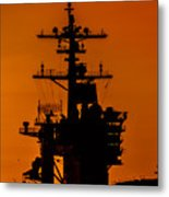 Uss Carl Vinson At Sunset 2 Metal Print