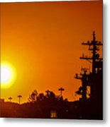 Uss Carl Vinson At Sunset 3 Metal Print