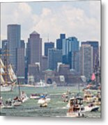 Uss Constitution Boston Cruise Metal Print by Susan Cole Kelly