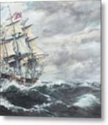 Uss Constitution Heads For Hm Frigate Guerriere Metal Print