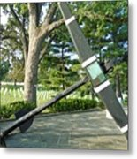 Uss Maine Anchor Metal Print
