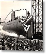 Uss Nautilus Slips Into The Thames Metal Print
