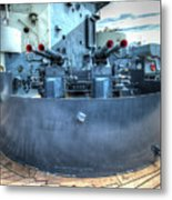 Uss North Carolina, Bb 55, 40mm Guns Metal Print