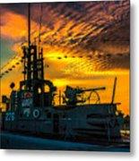 U.s.s. Silversides Sunset Metal Print