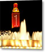 Ut Tower Championship Win Metal Print