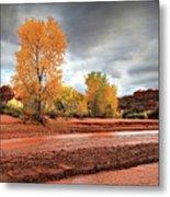 Utah Desert Wash Metal Print