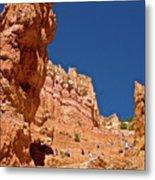 Utah Seventh Graders Climbing Switchbacks On Wall Street, Navajo Trail In Bryce National Park, Utah Metal Print