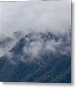 Ute Pass As Storm Clouds And Fog Roll In  Metal Print