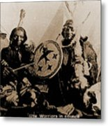 Ute Tribe In Council Metal Print