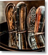 Utensils Reflected Metal Print