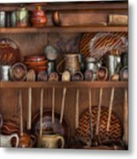 Utensils - What I Found In A Cabinet Metal Print