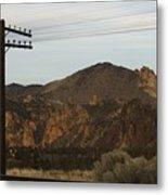 Utility Pole Metal Print