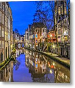 Utrecht From The Bridge By Night Metal Print