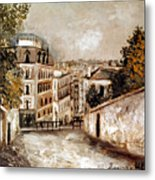 Utrillo: Montmartre, 20th C Metal Print