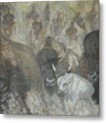 Uttc - Buffalo Mural Left Panel Metal Print