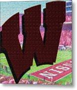 Uw Game Day Poster - Oil Metal Print