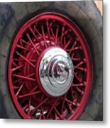 V8 Wheels Metal Print