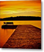 Vacant Sunset Metal Print by Mark Miller