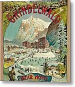 Vacation For Winter Sport Metal Print