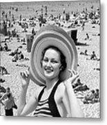 Vacation Montage, C.1930s Metal Print