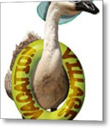 Vacation Time For Summer Goose Metal Print