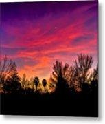 Vacaville Sunset Silhouette  Metal Print