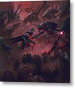 Vader Vs Aliens 1 Metal Print