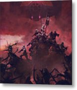 Vader Vs Aliens 2 Metal Print