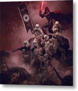 Vader Vs Aliens 3 Metal Print