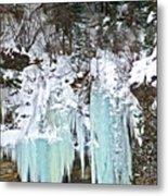 Vail Ice Falls Metal Print