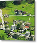 Val Poschiavo From The Bernina Express Switzerland Metal Print