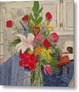 Valentine Bouquet Metal Print