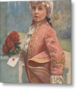 Valentine In The Victorian Era Metal Print
