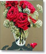 Valentine Roses Metal Print