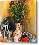 Valentine's Day Bouquet Metal Print