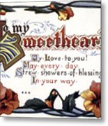 Valentines Day Card, 1910 Metal Print