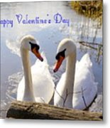 Valentine's Day Greeting Metal Print