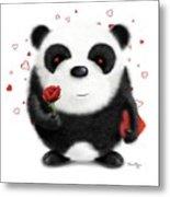 Valentine's Panda Metal Print