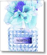 Valentino Blue Perfume Metal Print