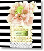 Valentino Perfume With Flower Metal Print