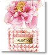 Valentino Pink With Peony Metal Print