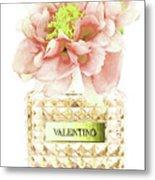 Valentino With Peony Metal Print