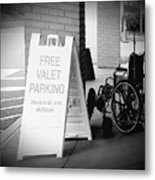 Valet Parking Metal Print