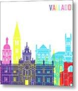 Valladolid Skyline Pop Metal Print