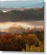 Valley Fog At Sunrise One Metal Print